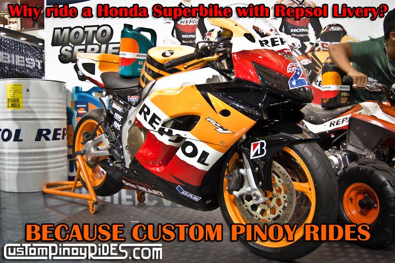 Repsol Honda Superbike BECAUSE CUSTOM PINOY RIDES
