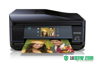 How to reset flashing lights for Epson XP-810 printer