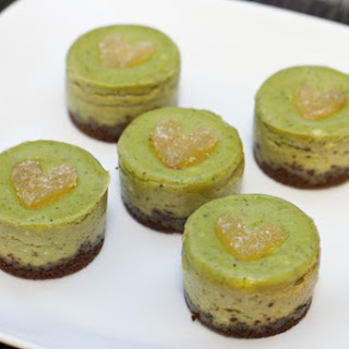 Mini Green Tea Cheesecakes.