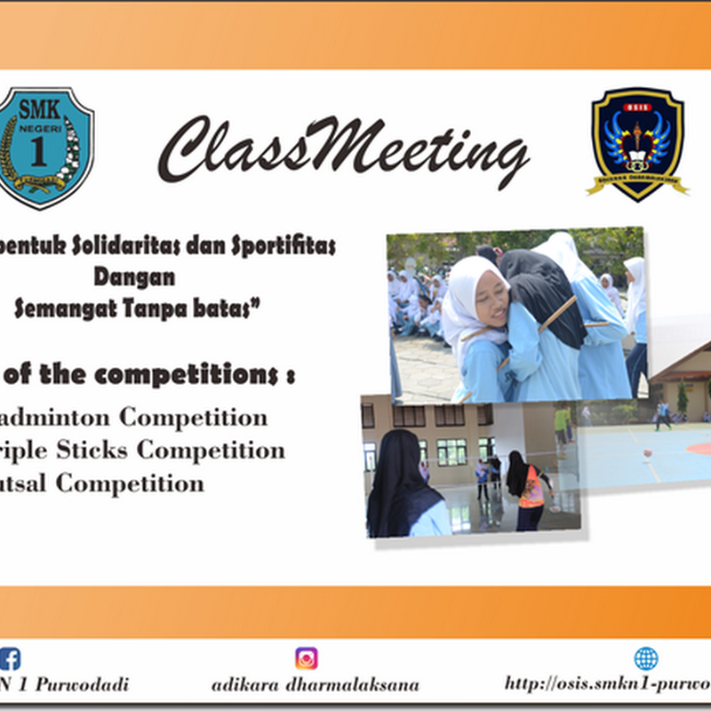 Kegiatan ClassMeeting SMK Negeri 1 Purwodadi