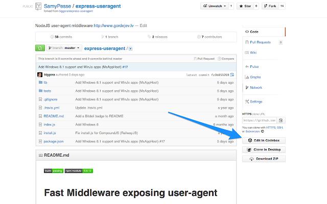 Codebox Button for GitHub