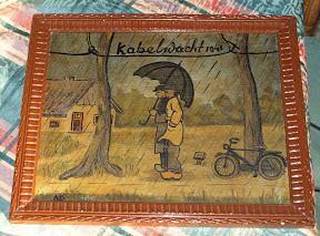 Schilderij van de kabelwacht in Enschede. Bron: dhr. de Wit