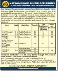 MDL Advertisement June 2020 www.jobs2020.in