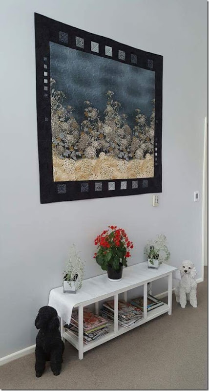 Toni's quilt in his house2