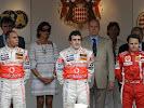 2007 Monaco Podium: 1. Hamilton, 2. Alonso, 3. Massa