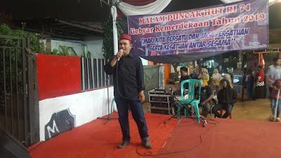 Malam Puncak Gebyar Hari Kemerdekaan Ke74 Dikampung Karang Tengah kota Tangerang