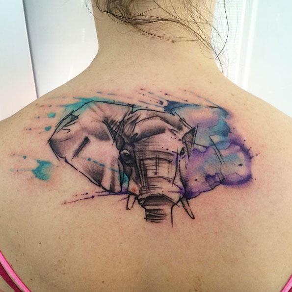 esta_aquarela_elefante_nas_costas