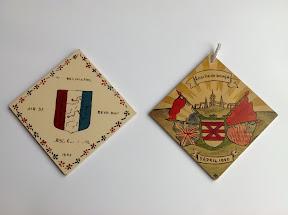 Tegeltjes die herinneren aan de bevrijding van Enschede op 1 april 1945. http://www.secondworldwar.nl/enschede/
