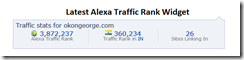 Latest Alexa Traffic Rank Widget