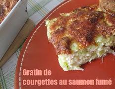 Gratin de courgettes au saumon fumé