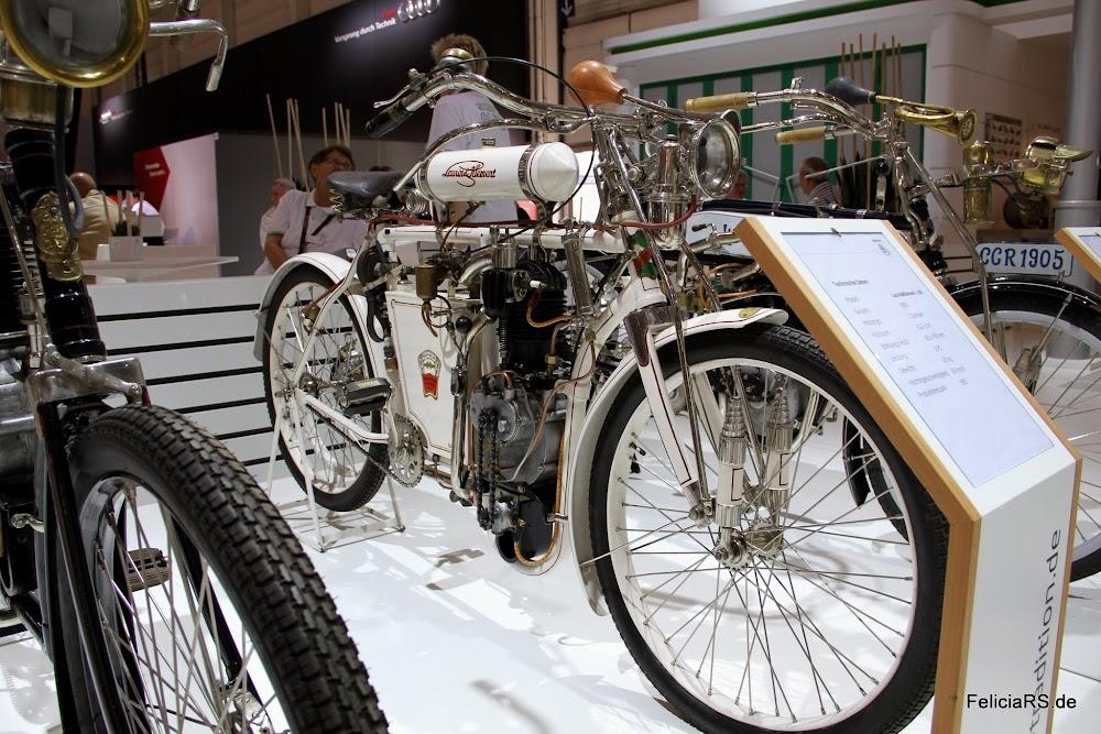 Laurin und Klement L80 Motorrad von 1903 aus Privatbesitz liebevoll Restauriert auf dem Skoda Stand
