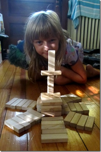 Building with Jenga blocks