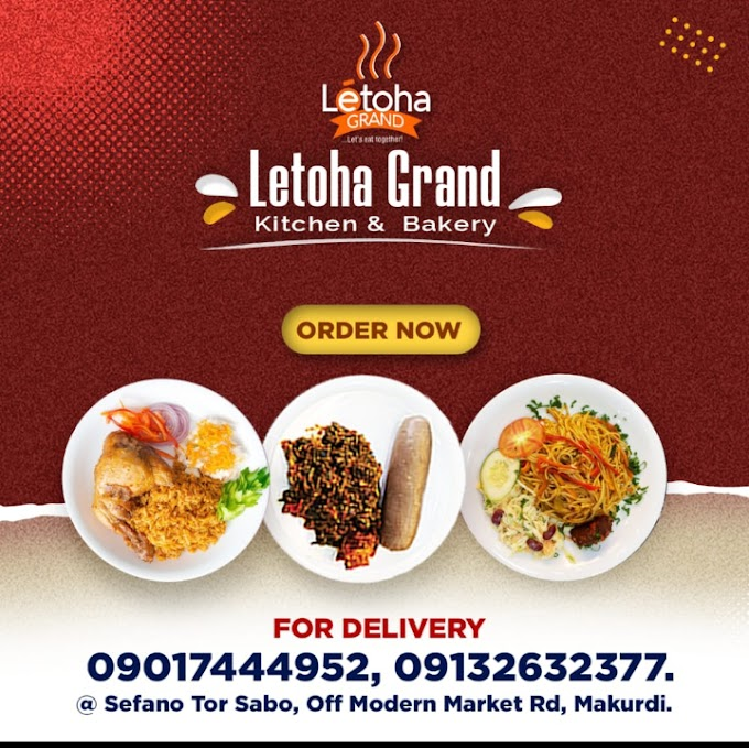 LETOHA GRAND Full price list for their delicious meals