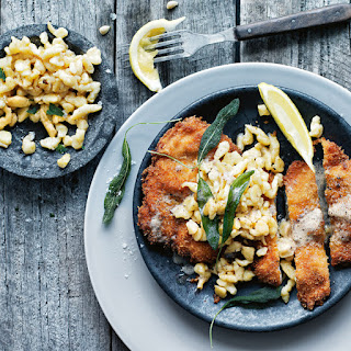 Chicken and Caraway Schnitzel with Buttermilk Spaetzle