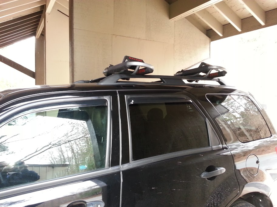 Kayak Rack On 2009 Factory Cross Bars Ford Escape