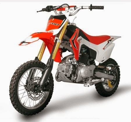 110cc CF Kids 4 Stroke Dirt Mini Bike Red