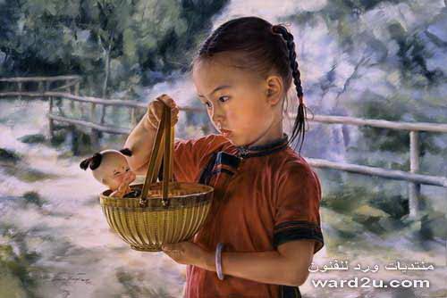 اطفال الصين بين التوحد والاغتراب فى لوحات Wai Ming