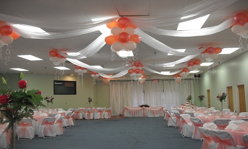 Flowers and Balloons decor