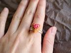 Heart Icing Cupcake Ring