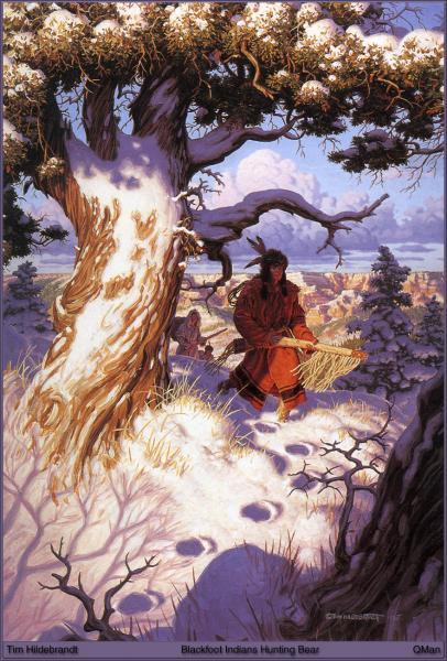 Blackfoot Indians Hunting Bear, Magick Warriors 1