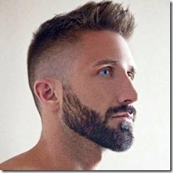 Modern fade hairstyle men