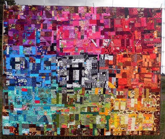amazing technicolor dream quilt by kim lapacek