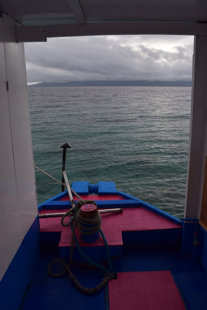 It is grey and rainy as we set out.... should be interesting!!  Our first dive spot was very near, just off the coast (since, sadly, the Coast Guard wouldn't allow us to go to nearby Limasawa Island because of approaching typhoons!!).