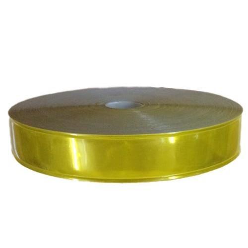 Dây phản quang nhựa 2.5cm vàng - BHK0014