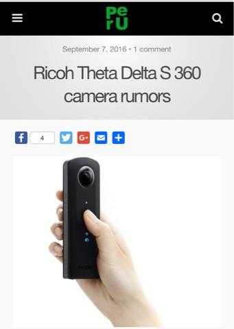 RUMOR: New Ricoh Theta will be called Theta Delta - 360 Rumors