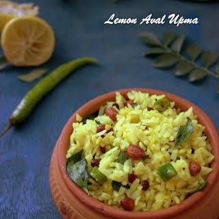 Lemon Aval Upma.