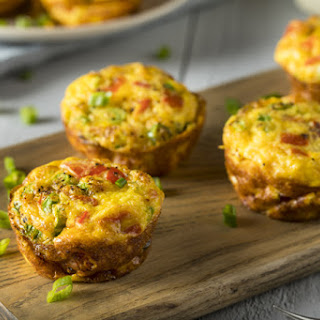 Muffin Tin Quiche with Spinach, Tomato and Bacon Recipe