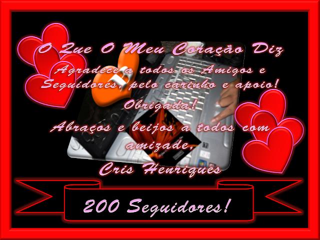 Cris Henriques, O Que O Meu Coração Diz, http://oqueomeucoracaodiz.blogspot.com