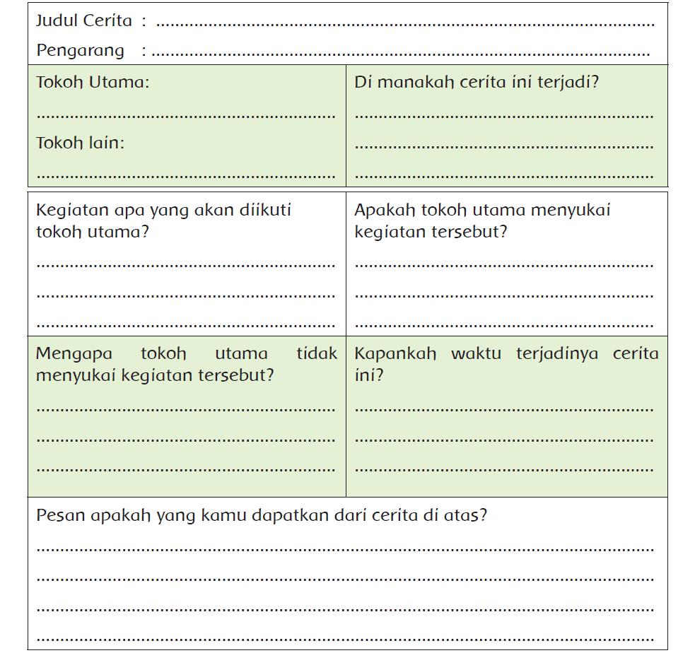 Kunci Jawaban Halaman 213, 214 Tema 6 Kelas 5