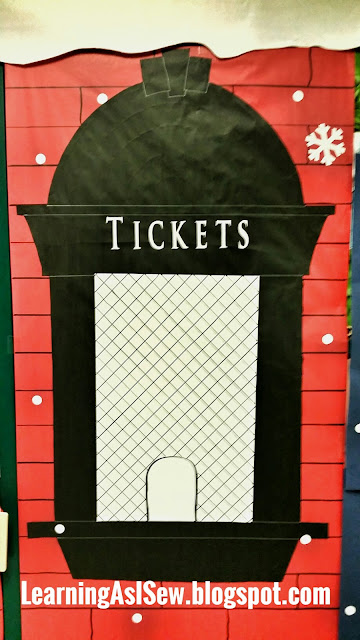 Polar Express Decor - Train Station Ticket Booth