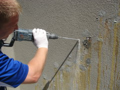 basement or retaining wall can be repaired by the acta leak repair kit
