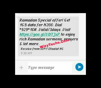 Etisalat 1gb for 200naira