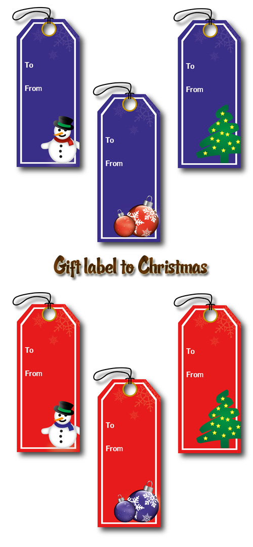 Stock: Gift label to Christmas