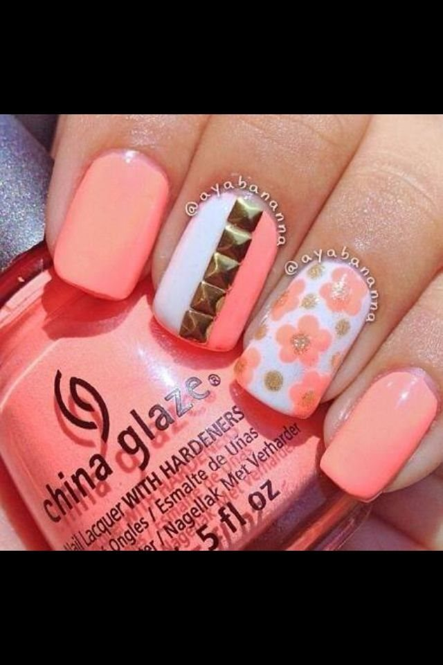 Why not go for a apricot attach design? Apricot attach arts are  contemporary for the season. They will abide to boss for the abutting  division as well, ... - Coral Nail Designs For 2015 2016 - Styles 7