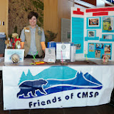 Pat at The Friends of CMSP Table