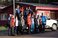 Põlva Matkaklubi liikmed matkal