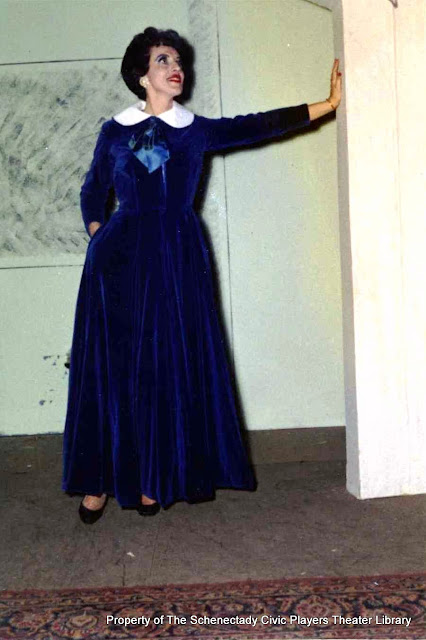 Martha Goldhoff in rehearsal for AUNTIE MAME - December 1961.  Property of The Schenectady Civic Players Theater Archive.