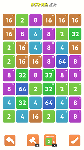 Merge Blast - NO ADS 2048 Puzzle Game android2mod screenshots 2