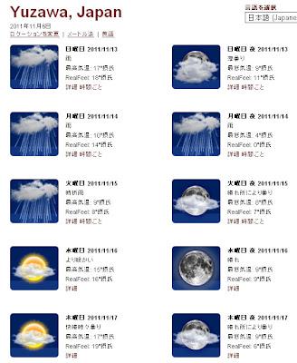 天気予報 二週間