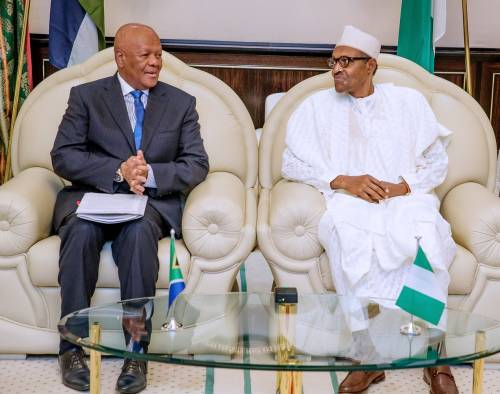 Breaking: South African Envoy Storms Aso Rock, Says No Nigerian died during attacks