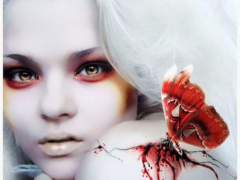 Red Bloody Butterfly And Beauty, Magic Beauties 1
