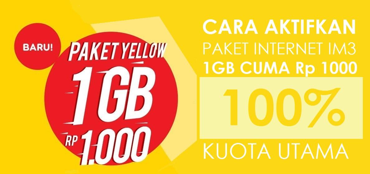 kita sanggup meminimalisir pulsa tersedot begitu saja Cara Beli Paket Yellow IM3 Kuota 1GB Rp 1000 & Rp 1500 [UPDATE]