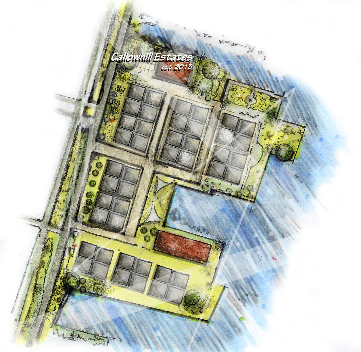 Site plan rendering tutorial el rey for Plan rendering ideas
