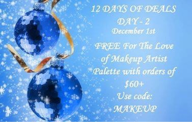 December 1  Free For The Love of Makeup Artist Palette with any $60+ order CODE: MAKEUP at https://maryvjjj1.avonrepresentative.com/