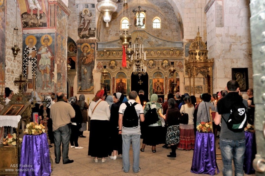 Группа Грузинских паломников в Израиле. Православный тур в Иерусалиме. Гид в Иерусалиме Светлана Фиалкова.