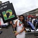 Felipe Nasr's grid girl at Circuit of the Americas.